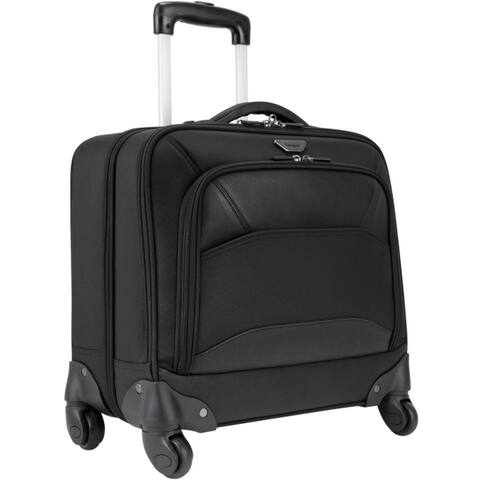 Targus pbr022 mobile vip 4-wheeled overnight rolling case black 15.6in