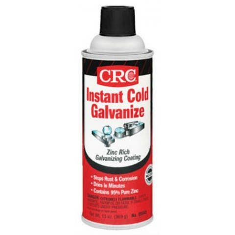 CRC 05048 Zinc-IT Instant Cold Galvanize, Matte Gray Finish, 13 Oz