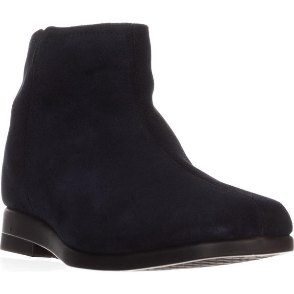 Aerosoles Double Trouble 2 Flat Ankle Boots, Navy Suede