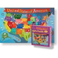Round World Products  24 x 36 in. United States Jigsaw Puzzle for Kid