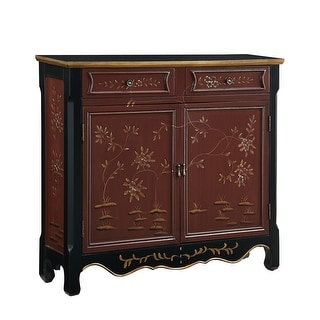 """Powell Home Fashions 246-331  Orient 41"""" Wide 2 Drawer Storage Cabinet - Red"""