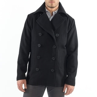 Link to Alpine Swiss Mason Mens Wool Blend Classic Pea Coat Jacket Similar Items in Men's Outerwear