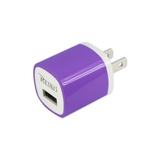 REIKO 1 AMP WALL USB TRAVEL ADAPTER CHARGER IN PURPLE