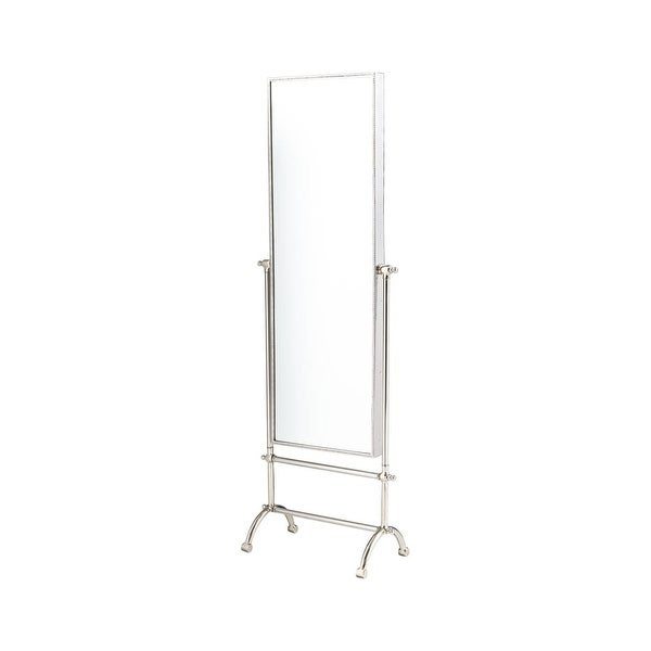 Cyan Design Cassius Mirror 58.25 x 19.25 Cassius Rectangular Aluminum and Iron Mirror Made in India - STAINLESS STEEL