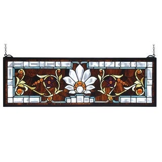 meyda tiffany stained glass tiffany window from the transom windows collection - Meyda Tiffany