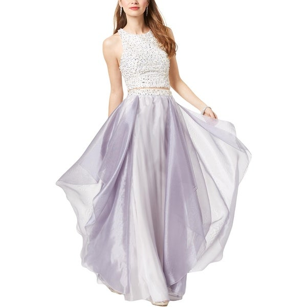 d5f0526db4 Shop Speechless Womens Juniors Crop Top Dress Embellished Formal - 0 ...