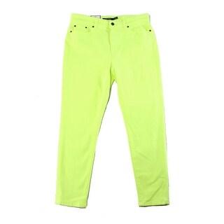 Lauren Ralph Lauren NEW Green Women's Size 6 Cropped Slim Skinny Jeans