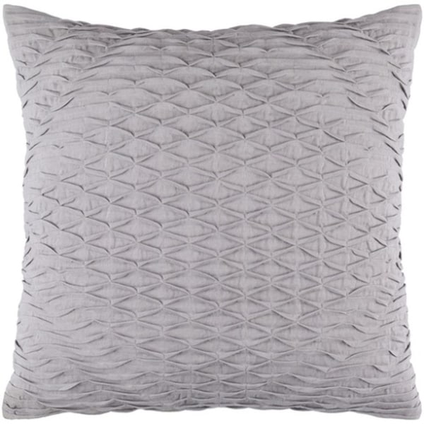 "22"" Slate Gray Woven Pinched Diamond Decorative Square Throw Pillow - Down Filler"