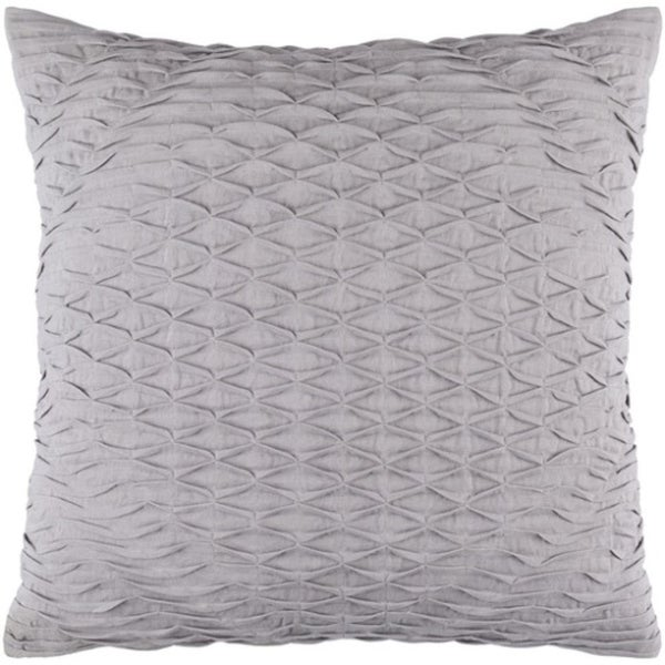 """22"""" Slate Gray Woven Pinched Diamond Decorative Square Throw Pillow"""