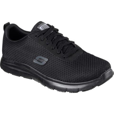 Skechers Men's Work Relaxed Fit Flex Advantage Bendon SR Sneaker Black