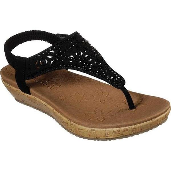 7420eebf2 Shop Skechers Women s Brie Dally Thong Sandal Black - Free Shipping ...
