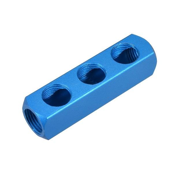 "1/2"" G Thread Pneumatic 6Port 3Way Air Hose Inline Manifold Block Splitter 2Pcs - 6Ports 3 Ways 1/2"" G 2pcs"
