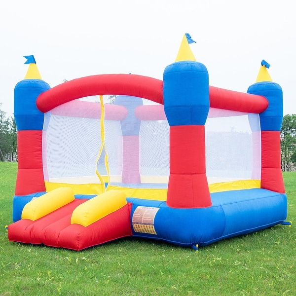 Inflatable Slide Blower: Shop Costway Bounce House Magic Castle Inflatable Bouncer