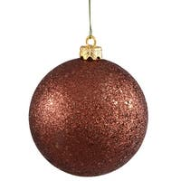 "4"" Mocha Sequin Ball Drilled 6/Bag"