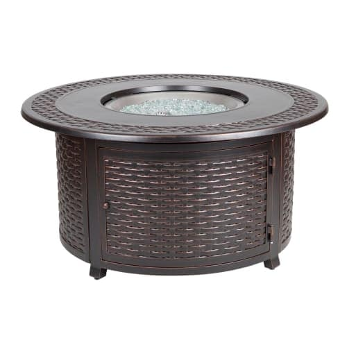 Fire Sense 62195 48 Inch Wide 50000 BTU Liquid Propane Fire Pit with Cover  for F - Free Shipping Today - Overstock.com - 26304151 - Fire Sense 62195 48 Inch Wide 50000 BTU Liquid Propane Fire Pit With