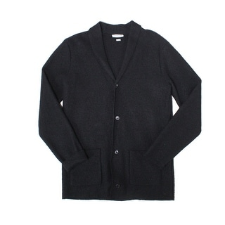 SELECTED HOMME NEW Black Mens Size XL Wool Knit Cardigan Sweater