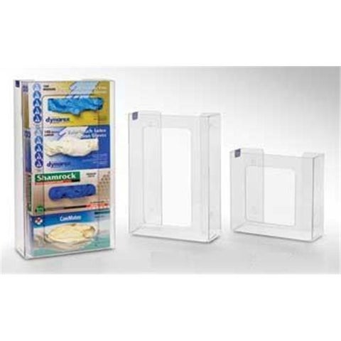 RackEm Racks 3-Box Vertical Stacking Glove Dispensers - Clear Plastic
