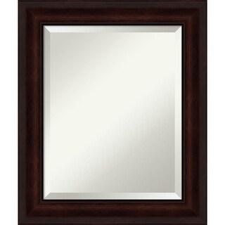 Coffee Bean Brown Bathroom Vanity Wall Mirror