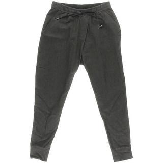 Pure DKNY Womens Jogger Pants Cuffed Elastic Waist