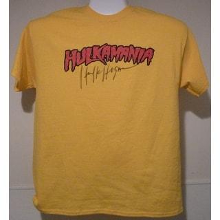 Hulk Hogan Autographed WWE Size XL Yellow TShirt Hulkamania JSA