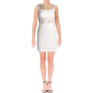 Aqua Womens Party Dress Lace Cocktail