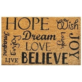 Home & More 12048 Hope-Dream-Believe Vinyl Back Mat 18 X 30 Inches