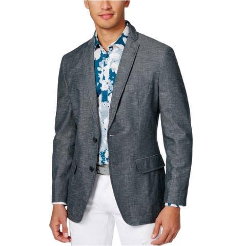 I-N-C Mens Long Sleeve Two Button Blazer Jacket