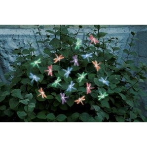 Smart Solar 3706MR20 Solar Light String with Dragonfly Covers - Black/Red