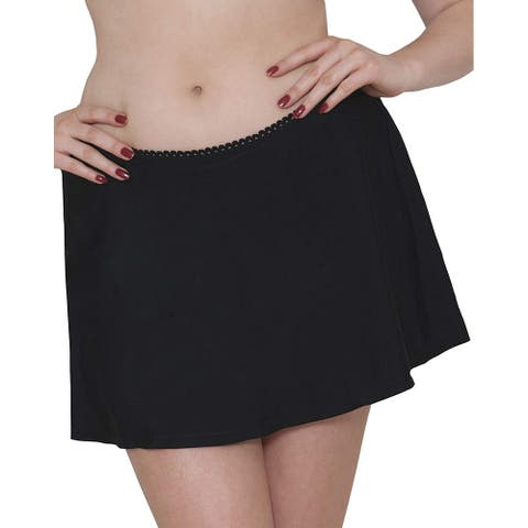 Curvy Kate Womens Swimwear Deep Black Size 4XL Plus Skirt Bikini Bottom