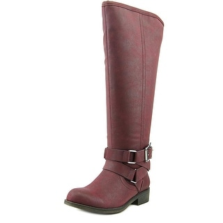 Madden Girl Corprl Women Round Toe Synthetic Brown Knee High Boot