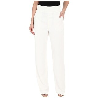 Catherine Malandrino NEW White Womens Size 12 Straight Leg Dress Pants