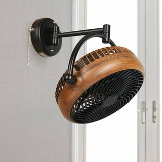 Link to Industrial Walnut Finish 8 Inches Wall Mount Fan Similar Items in Heaters, Fans & AC