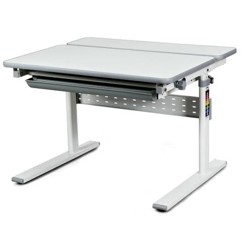 Gymax Children Study Table Tilting Writing Desk w/Drawer Student