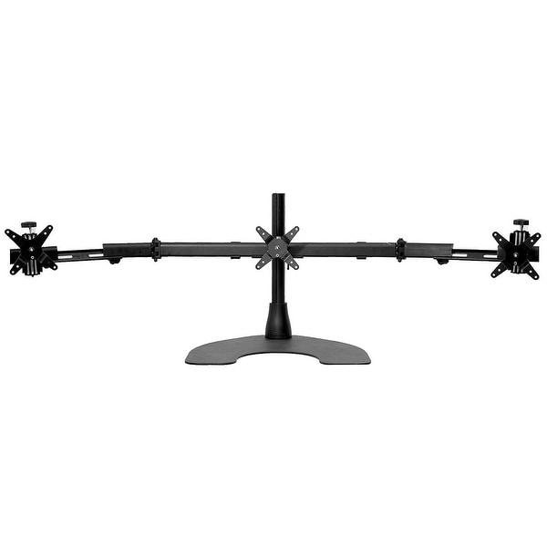 Ergotech 100-D16-B03-Tw Triple Lcd Monitor Desk Mount Stand W/ Telescopic Wings