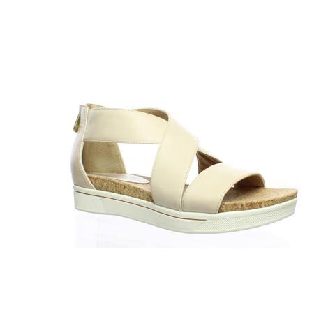 e44ef53d21 Adrienne Vittadini Womens Claud Bone-small Ankle Strap Heels Size 8.5