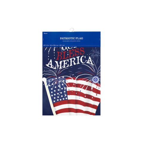 Flag132 darice garden flag 12x18 god bless american