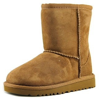 Ugg Australia Kids Classic Youth Round Toe Suede Tan Winter Boot