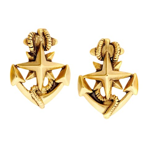 Chrysalis Charmed 14K Gold-Flashed Brass North Star Stud Earrings - Yellow