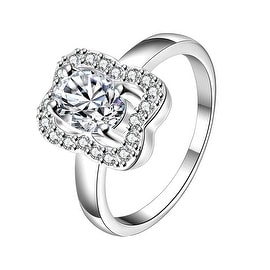 Classic Crystal Square Shaped Petite Ring