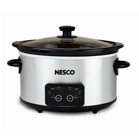 Nesco DSC-4-25, 4 Qt. Digital Stainless Steel Slow Cooker