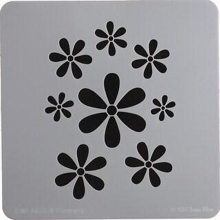"""Donna Mibus Mid-Century Stencils 8""""X8""""-Flowers"""