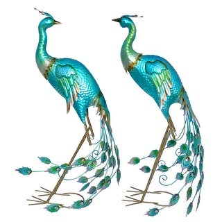 Link to Set of 2 Standing Colorful Iron Peacocks Similar Items in Outdoor Decor