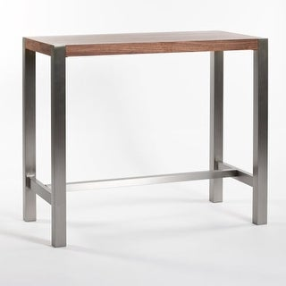 Moes Home Collection ER-1080 Riva 41 Inch Tall Wood Veneer Pub Table with Stainl - N/A