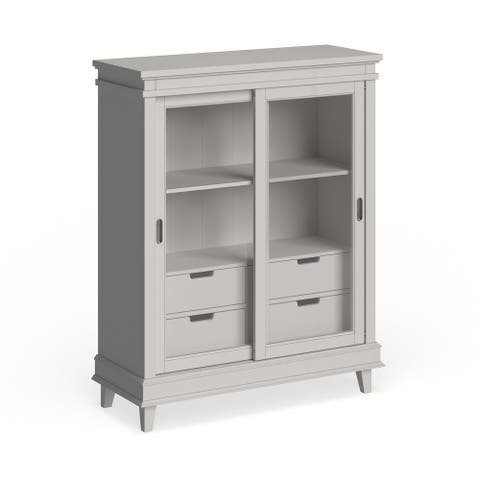 Liberty Summerhill Rubbed Linen White Display Cabinet