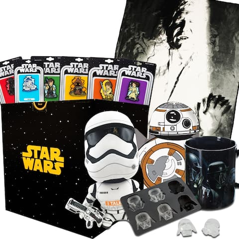 Star Wars Gift Box with Han Solo Carbonite Fleece Throw Blanket & Exclusive Pins - multi