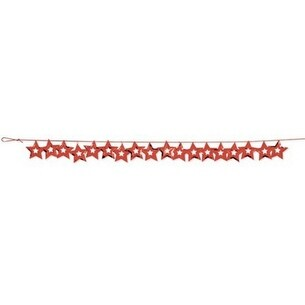 12 Confetti Metallic Red Cutout Stars Hanging Christmas Party Garlands 108'