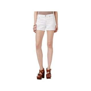 Adriano Goldschmied Womens Hailey Denim Shorts Flat Front Casual