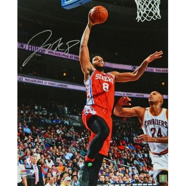 a37be76e Shop Jahlil Okafor signed Philadelphia 76ers 16x20 Photo red jersey layup  vs Cavaliers - Free Shipping Today - Overstock - 19867848