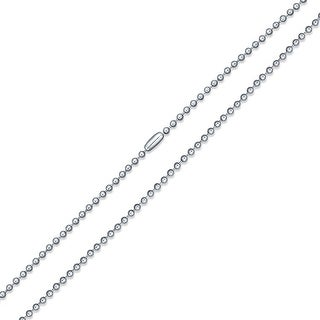 Bling Jewelry Mens Stainless Steel Unisex Beaded Ball Chain Necklace 3mm