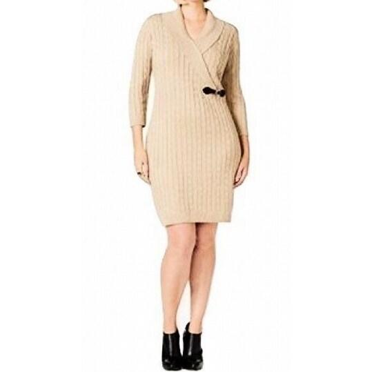 Shop Calvin Klein New Beige Women S Size 2x Plus Cable